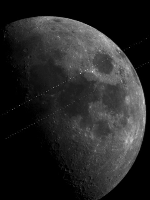 Lunar Transits of ISS and Endeavor