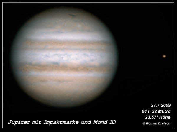 Jupiter Impact 2009 and Io