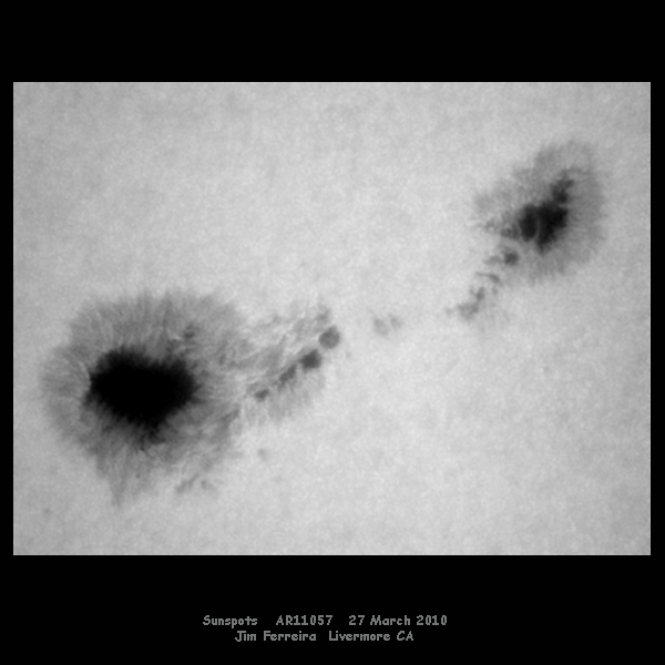 Sunspot AR 11057