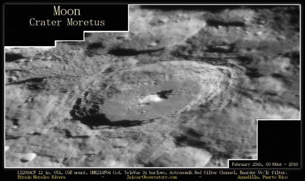 Lunar Crater Moretus