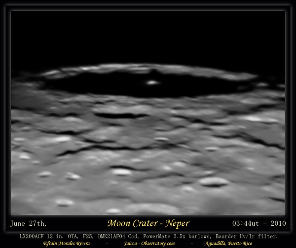 Moon Crater Perouse