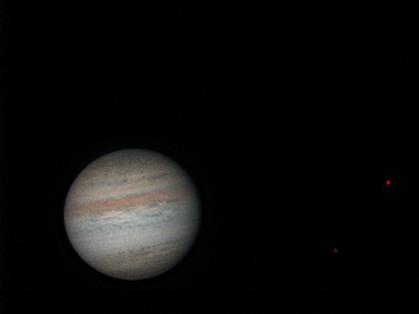 Jupiter, Callisto and Io