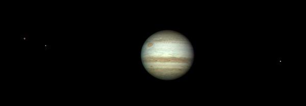 Jupiter, Ganymede, Europa & Io