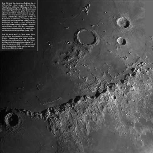 Moon, Apennines - Peter and Christian Wellmann