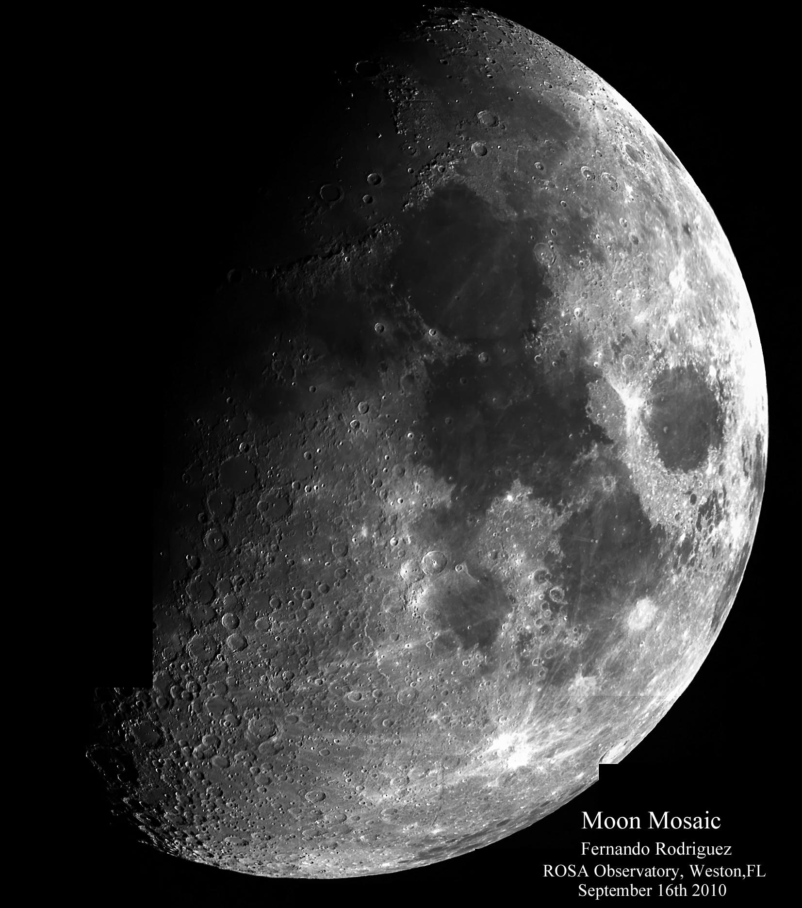 Close up and mosaic of the moon - Moon close up ...