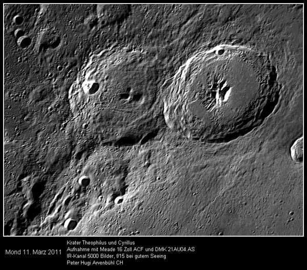 Lunar Crater Theophilus and Cyrillus