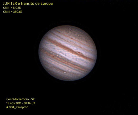 Conrado Serodio - Jupiter and Europa Transit