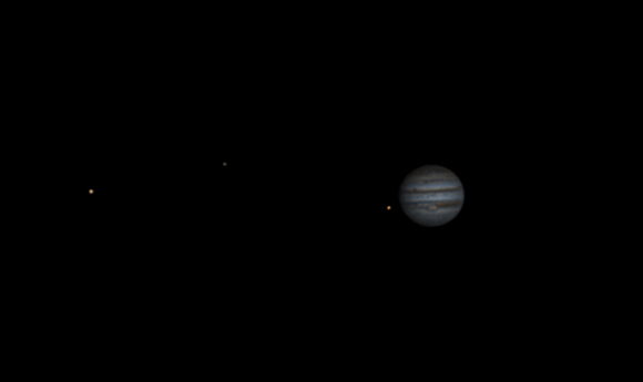 Jupiter with Ganymede, Callisto and Io - Alex Houston