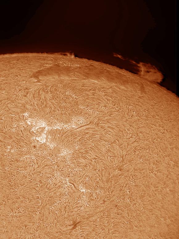 Sun in H-Alpha by Stefan Hahne
