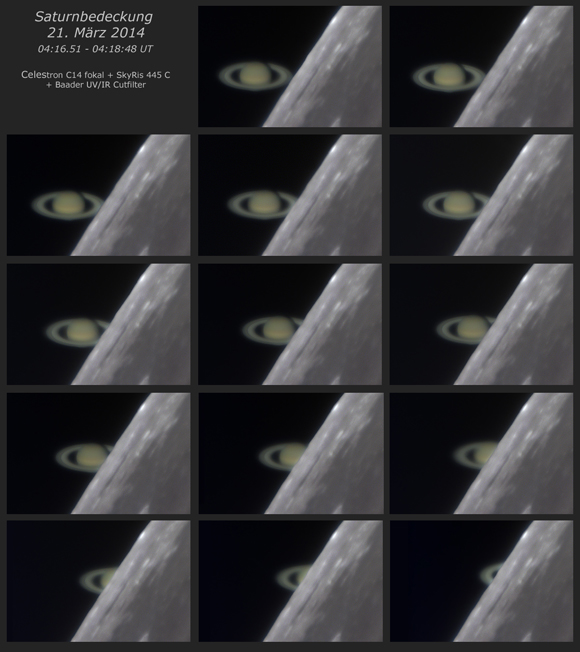 All Phases of the Saturn Occultation by Wolfgnag Paech